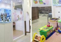 院内は明るくて広々とした空間! 待合室には、水槽を設置しており、 患者様の待ち時間によるストレス軽減と リラックスして過ごせるように配慮しております。